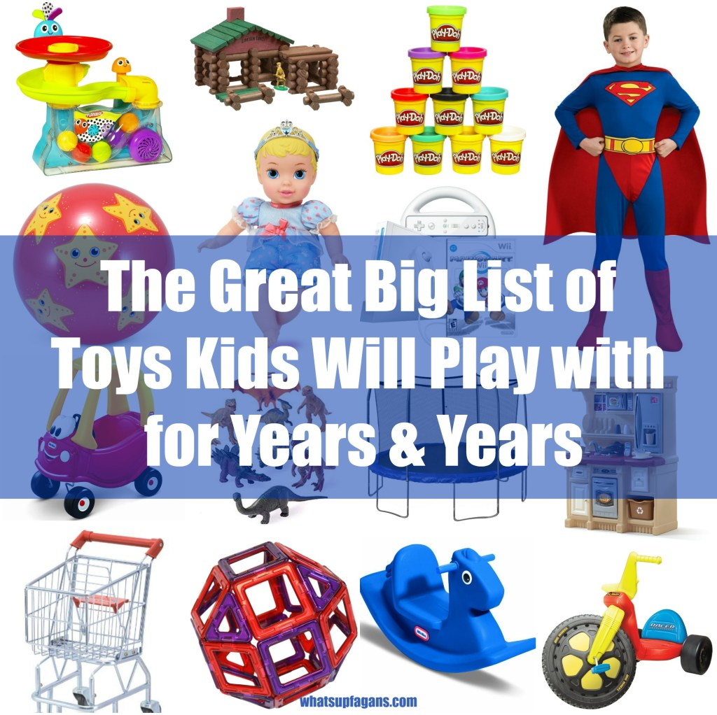 Love the idea of this gift guide! It's a toy list full of classic toys, games, and equipment that are kid-tested and proven to be played with over and over again. Great list of long-lasting kids toys - children's toys that last a long time - Christmas toys - gift ideas - holidays - birthdays