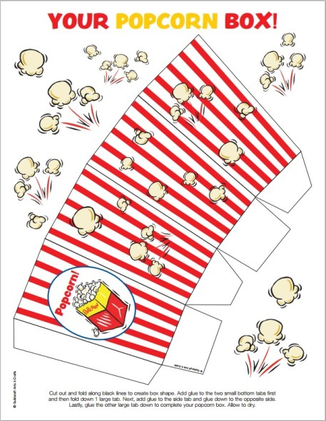 Popcorn Box Printable Christian