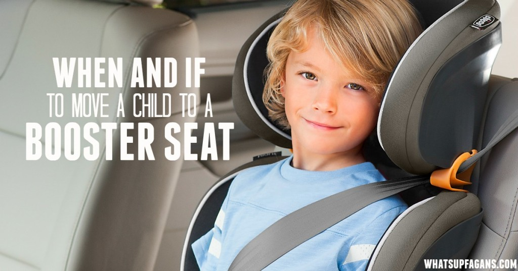 When and if to move a child to a booster seat