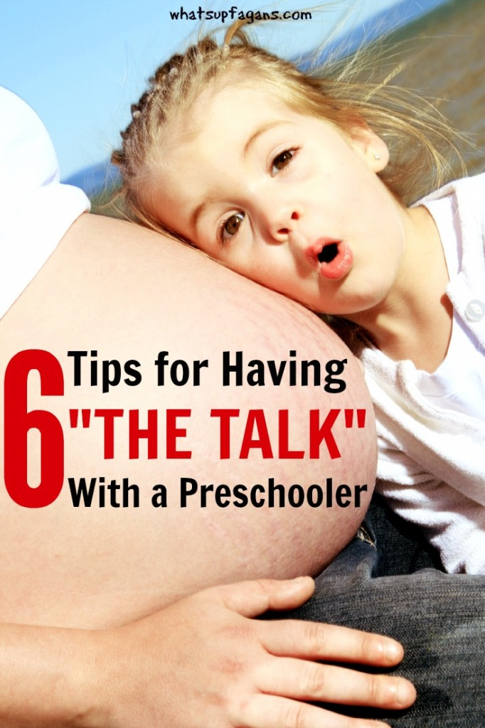 """So grateful for this! My preschooler just asked me """"How does the baby get in your belly, Mommy?"""" and I didn't know how to answer her! Great parenting tips and advice for making this conversation less awkward."""