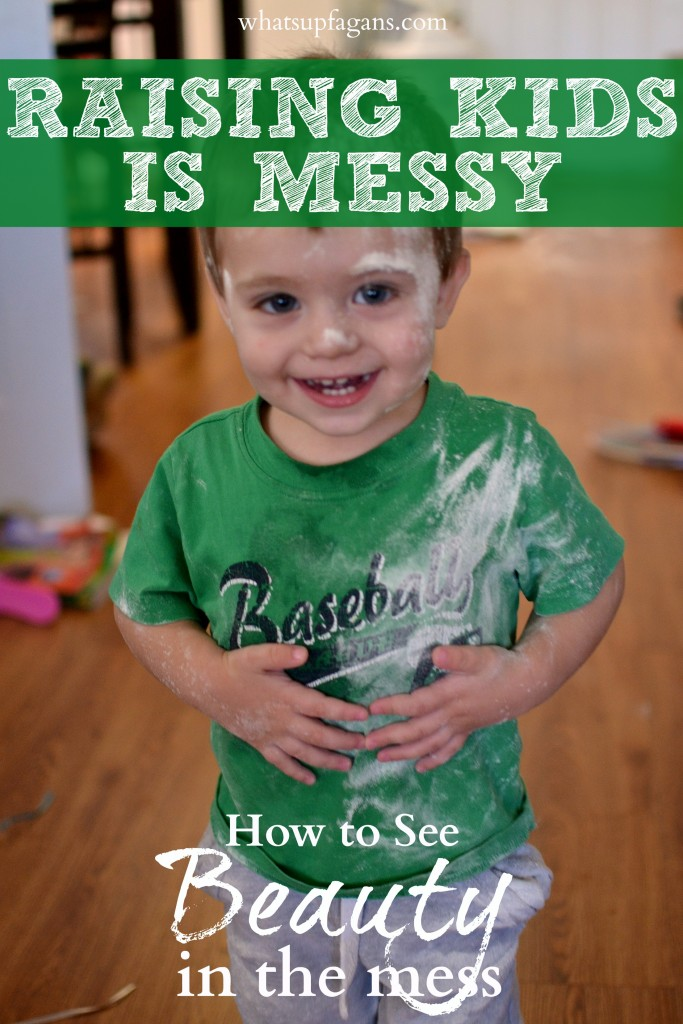 Raising kids is such a beautiful mess isn't it? Love this reminder on how to see past the mess.