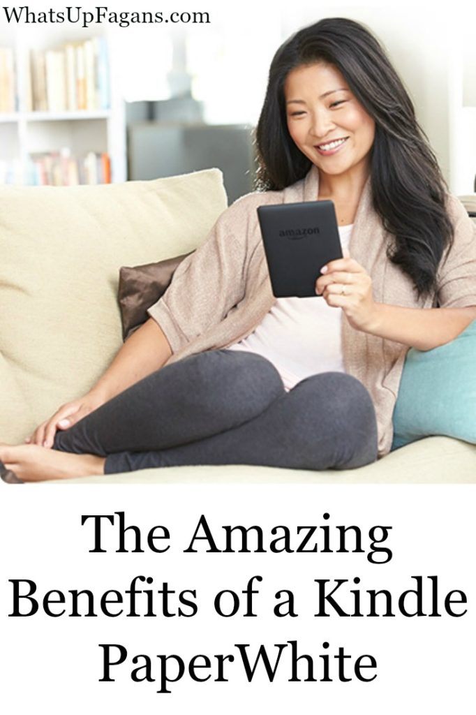 Even if you love real paperback and hardcover books, there are some awesome benefits of a Kindle ereader, especially the Kindle PaperWhite. This really makes me want one now!
