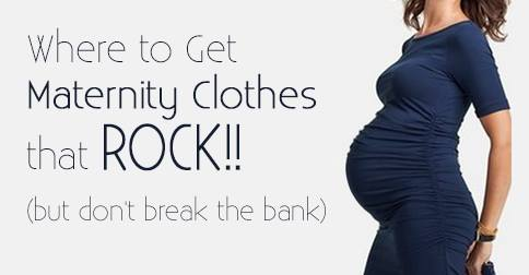 An awesome list of places of where to get maternity clothes that rock but don't cost very much! Great tips for getting maternity clothes for free, secondhand, and new but inexpensively. Time to get shopping!