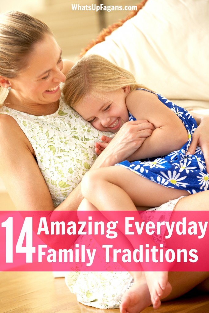 I love the idea of everyday family traditions! Who needs to wait until a holiday to make family life and family time special? These family tradition ideas are great!