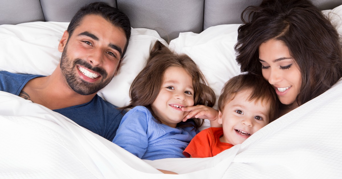 Everyday Family Traditions are so important! My family loves snuggling in bed first thing in the morning.