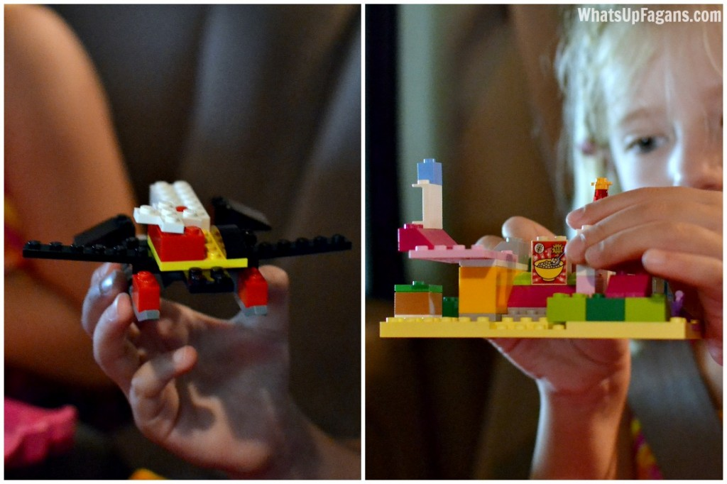 This is such a great product for kids! It really makes taking play on-the-go so much easier, which is great for summer roadtrips, errand running, or just general playtime or quiet time. Love these original Lego Junior Creations!