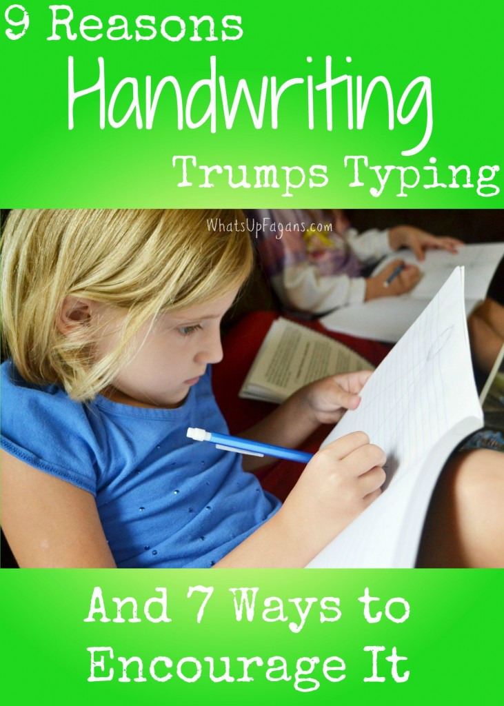 Handwriting is SO not dead! I haven't really thought about why it's so important, but I love all these reasons why handwriting is better than typing for kids and adults!