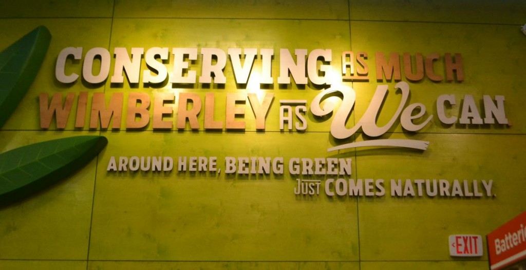 Wimberely HEB really cares about conserving the community and being green.
