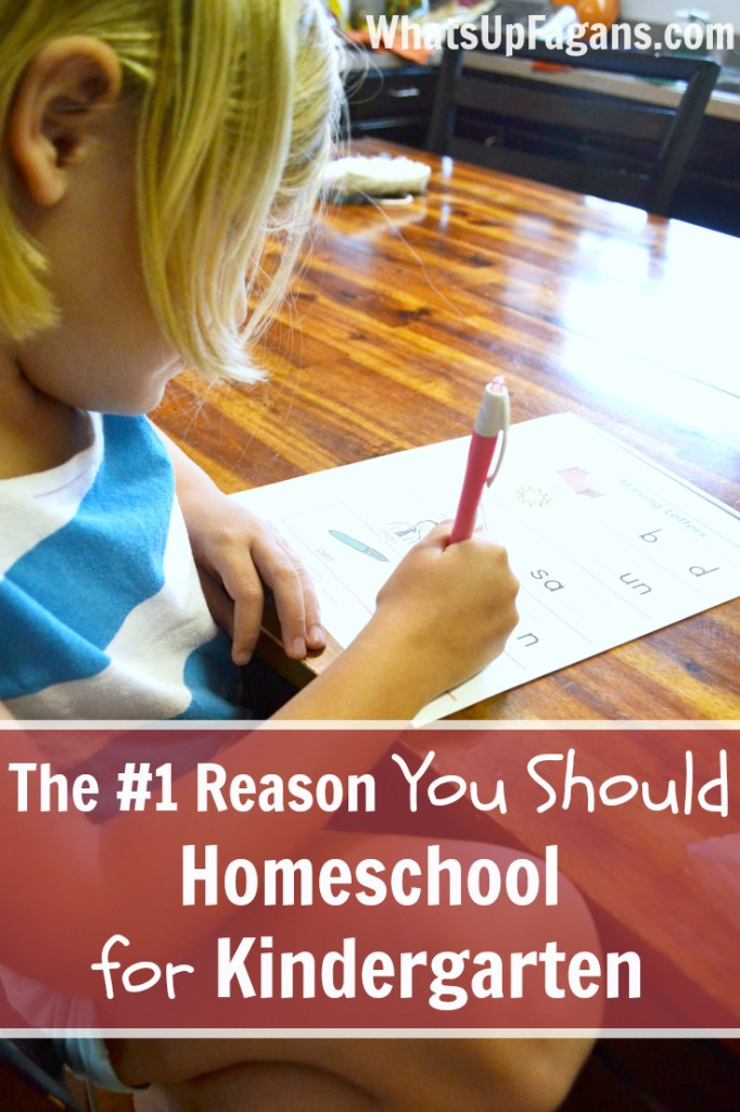 This really is a great reason to homeschool for kindergarten!  And she's amazing to do it with four kids and working from home.