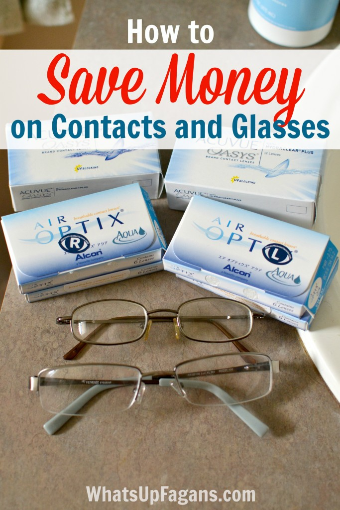 Great saving money tips for affordable eye care! How to get cheap contacts and glasses and information on how to clean contacts properly too.