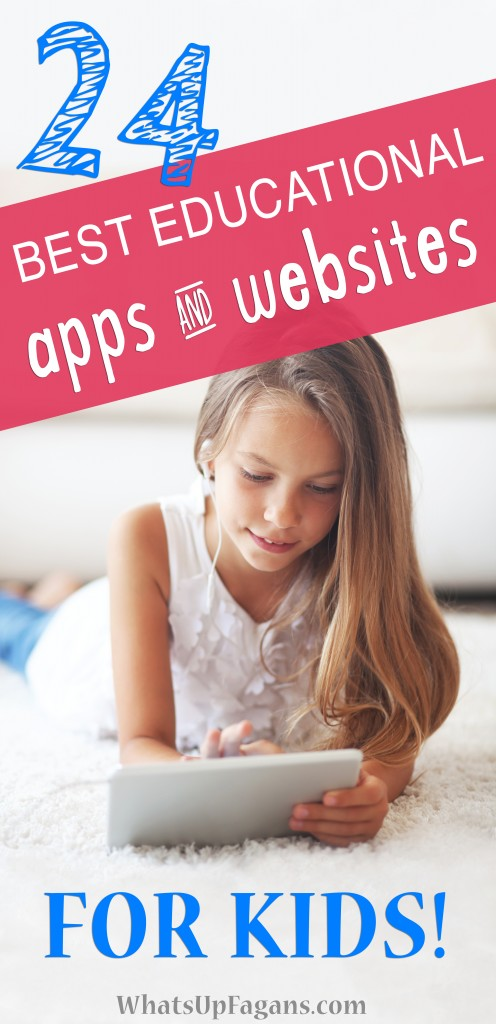 Awesome list! 24 educational apps and educational websites for kids! Most focus on reading and mathematic skills and info on if they are free or paid. So excited to have this!