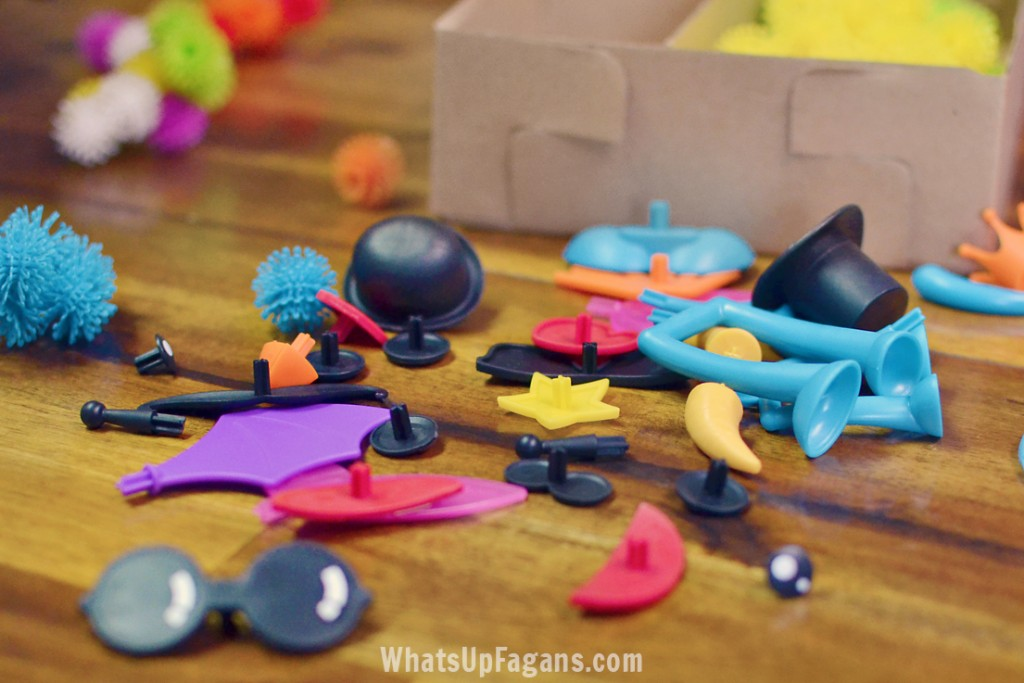 Bunchems mega kit accessory pieces. Perfect for pretend creative play for kids.