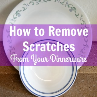 DIY tutorial on how to remove scratches from plates and bowls.