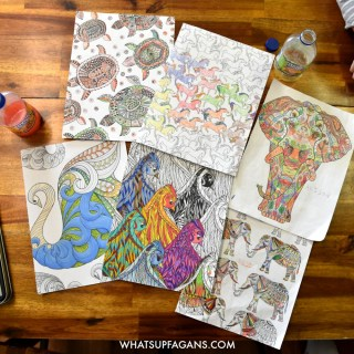 Great advice for getting your kids into adult coloring books and without scribbling all over them!