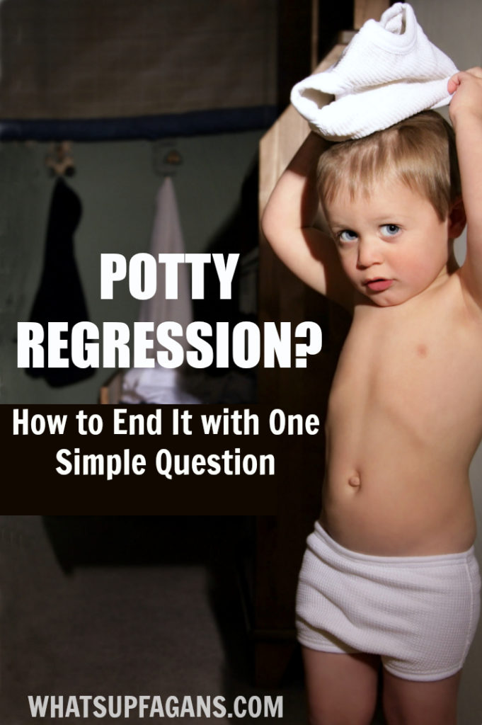 If your young child or toddler is going through potty training regression with frequent accidents, ask them this ONE question. If it works it will save you a lot time and sanity!!