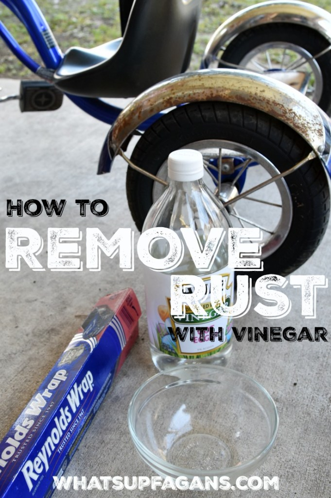 using vinegar to remove rust from bicycle tricycle