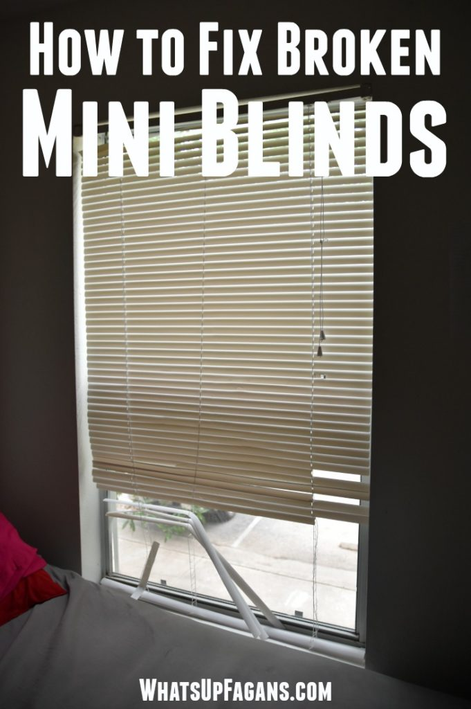 Great DIY tutorial on mini blind repair to fix mini blinds. My kids break them all the time. Great apartment living tip that will save money!