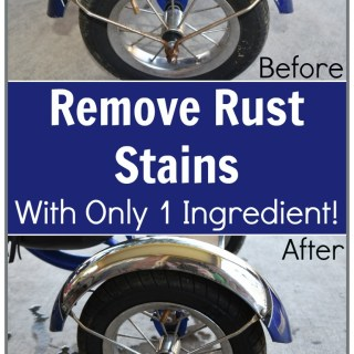 Great DIY Cleaning Tutorial on Removing rust from a boy's tricycle with vinegar!