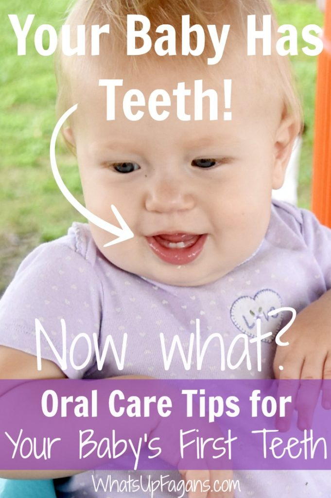 It's baby's first teeth! If you wonder what to do when baby gets teeth, stay calm and read this post. It has the info you need to improve your kids oral care and health.