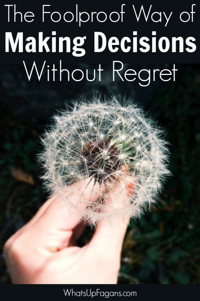 When it comes to decision making and knowing how to make a decision about important life decisions, you want to make the right choice!! Love this guide for making decisions without regret.
