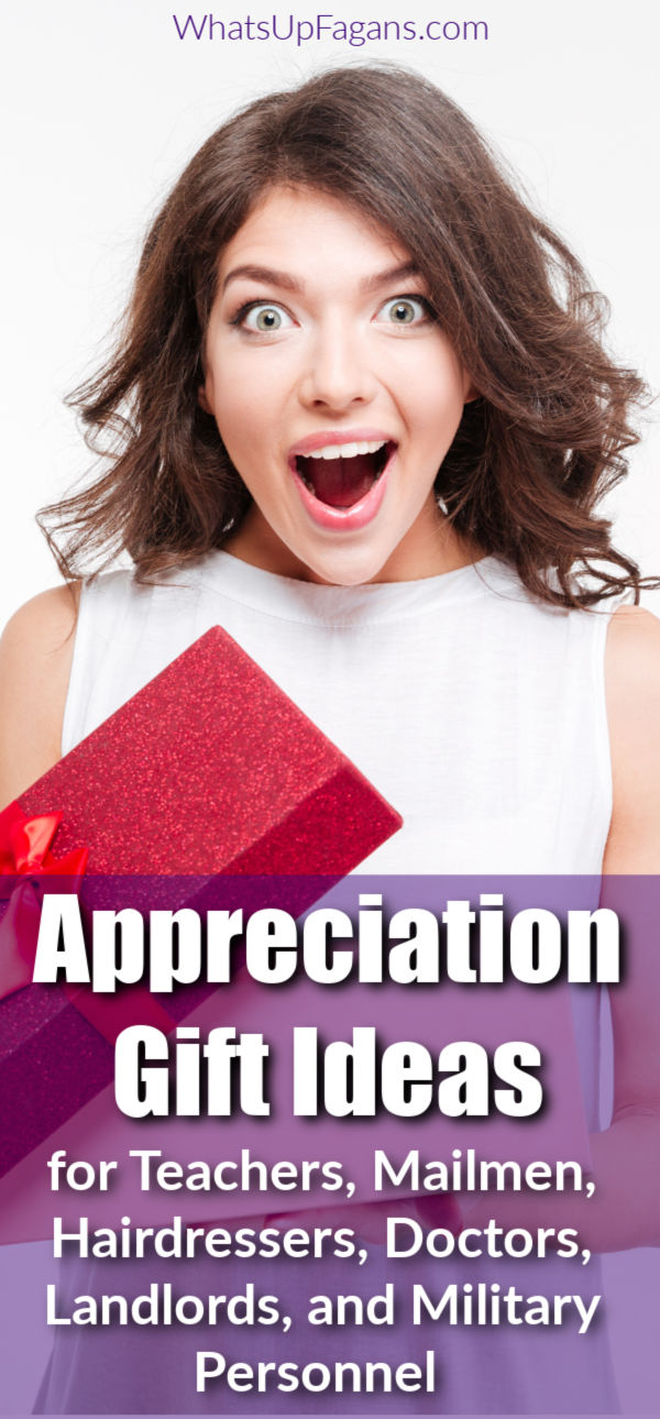 Yes!! These people need to feel appreciated too! Great list of appreciation gift ideas for teachers, mailman, hairdressers, doctors, landlords, and military service men and women. #teachergifts #appreciation #gratitude #appreciationgifts #gifts #giftguide #giftideas