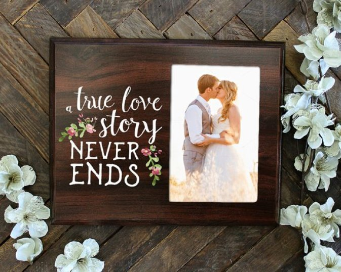 romantic gift for him - picture frame