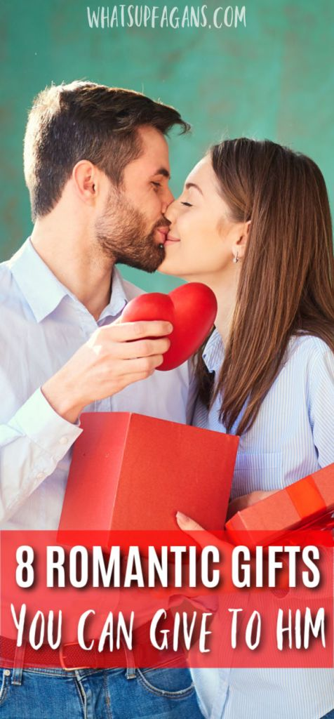 husband and wife kissing after wife gave romantic gifts for him