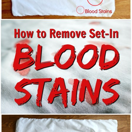 blood stain removal method with ammonia - hot iron laundry stain removal - how to get rid of blood stain on fabric, clothes, sheets, pillow case with ammonia, cleaning tutorial tip, hydrogen peroxide