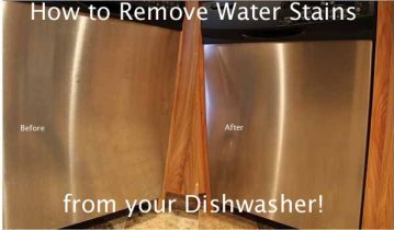 remove water stains on stainless steel dishwashers with baking soda