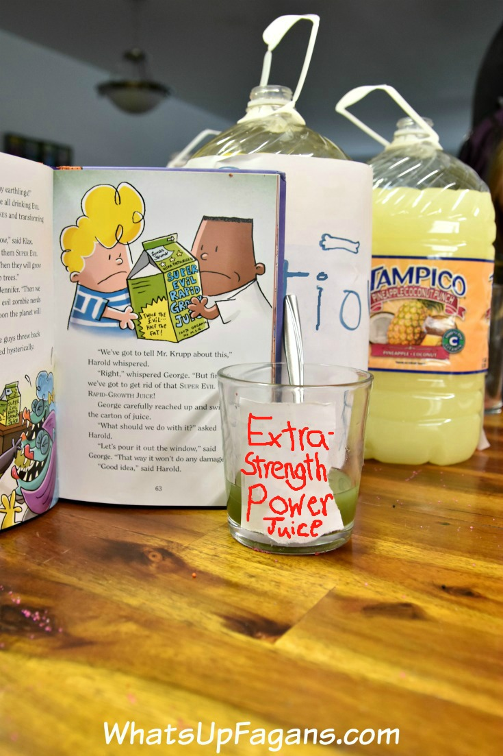 extra-strength power juice - captain underpants and tampico