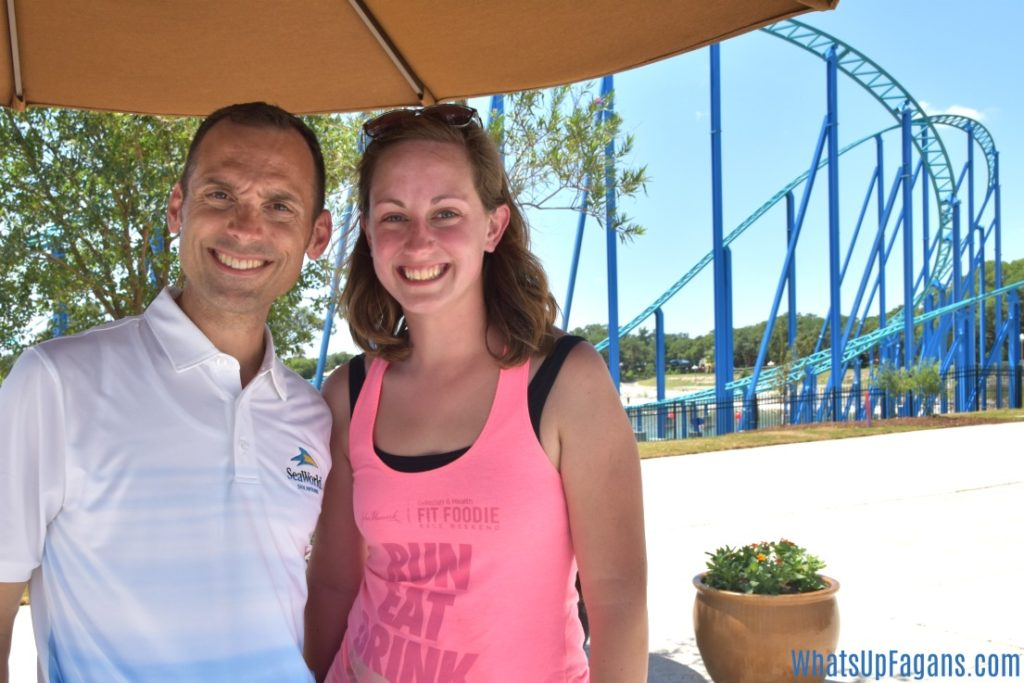 Mike Dennison and Wave Breaker at Sea World
