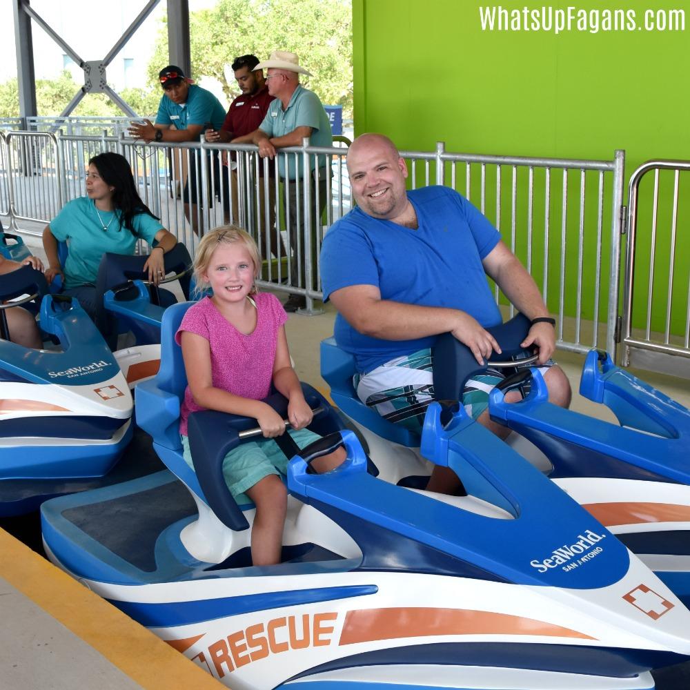 Riding Wave Breaker at SeaWorld San Antonio