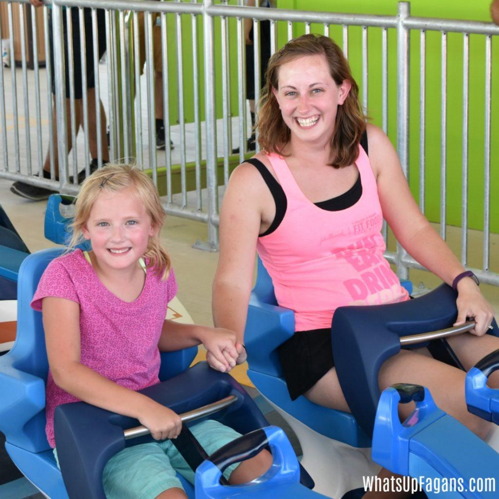 riding Wave Breaker at SeaWorld San Antonio - 2