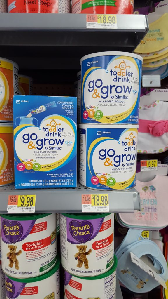 Messy Toddler Eating - Similac Go and Grow toddler drinks at walmart