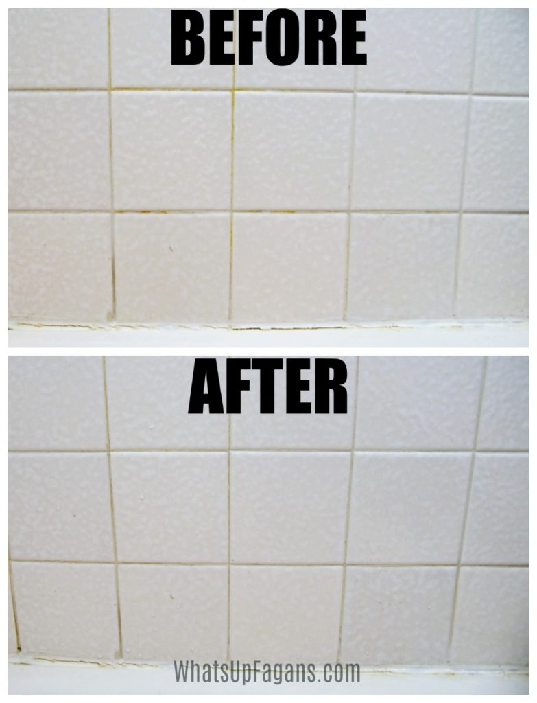 clean grout lines with magic eraser