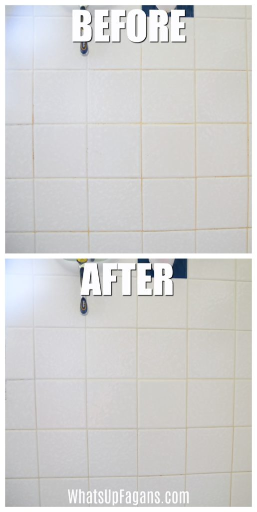 how to clean grout with a steam cleaner - before and after