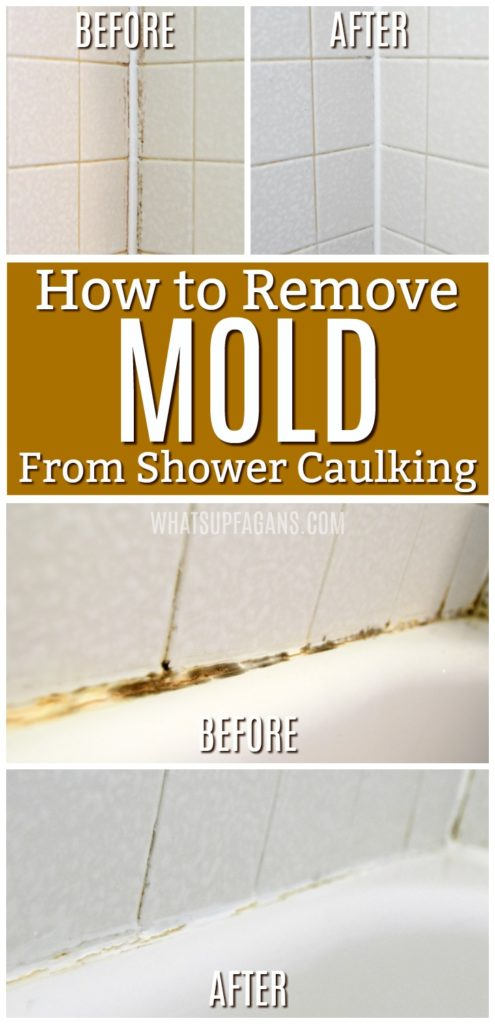 How to Get Rid of Mold in Caulking - Remove Mold in Bathroom bathtub shower caulk | cleaning tip trick hacks for moldly caulking in bathroom