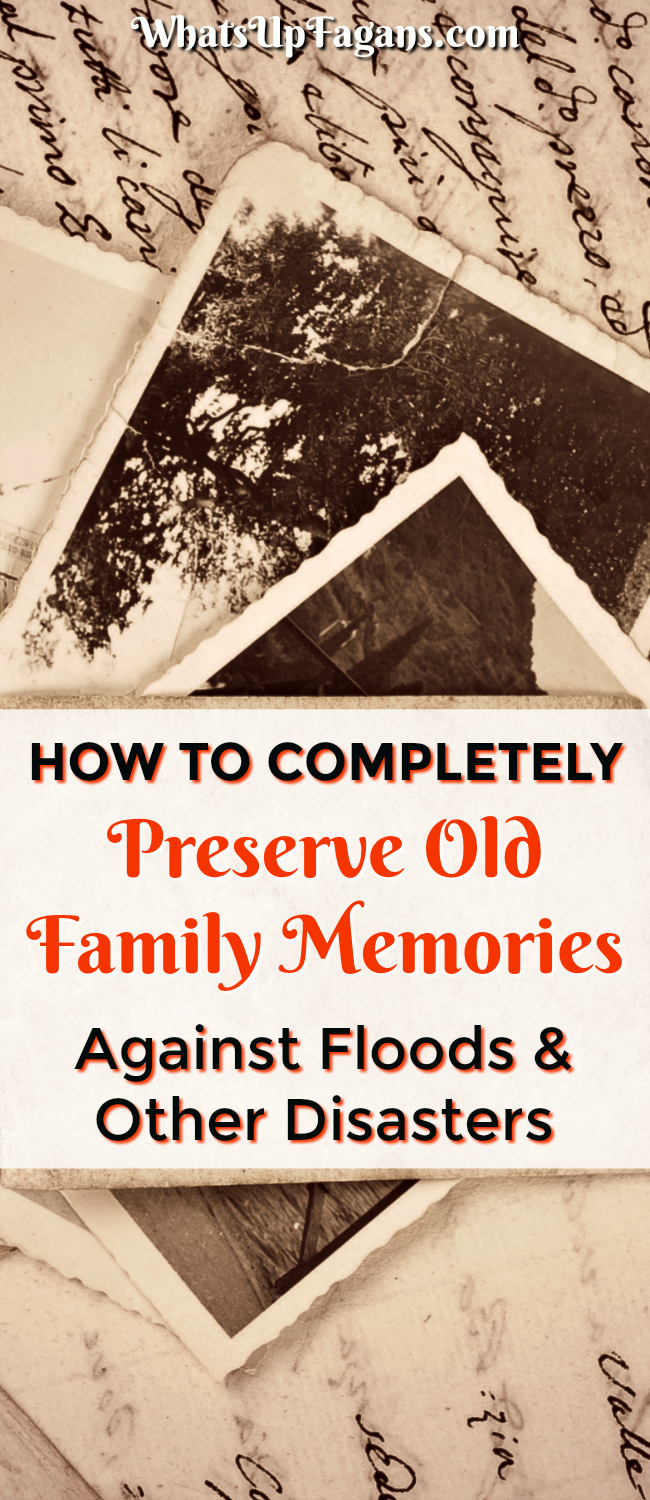 FREE Printable checklist resource on how to keep memories like old photos, journals, cassettes, tapes, vidoes, and more safe in the case of Hurricane, Flood, Fire, or other emergencies and disasters. Tips to Digitize Photos and backup.
