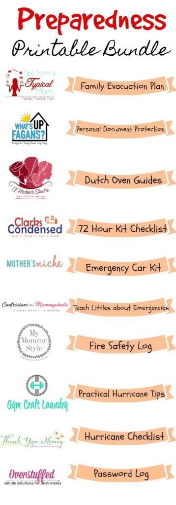 FREE Preparedness Printable Bundle - Emergency Preparation for Families