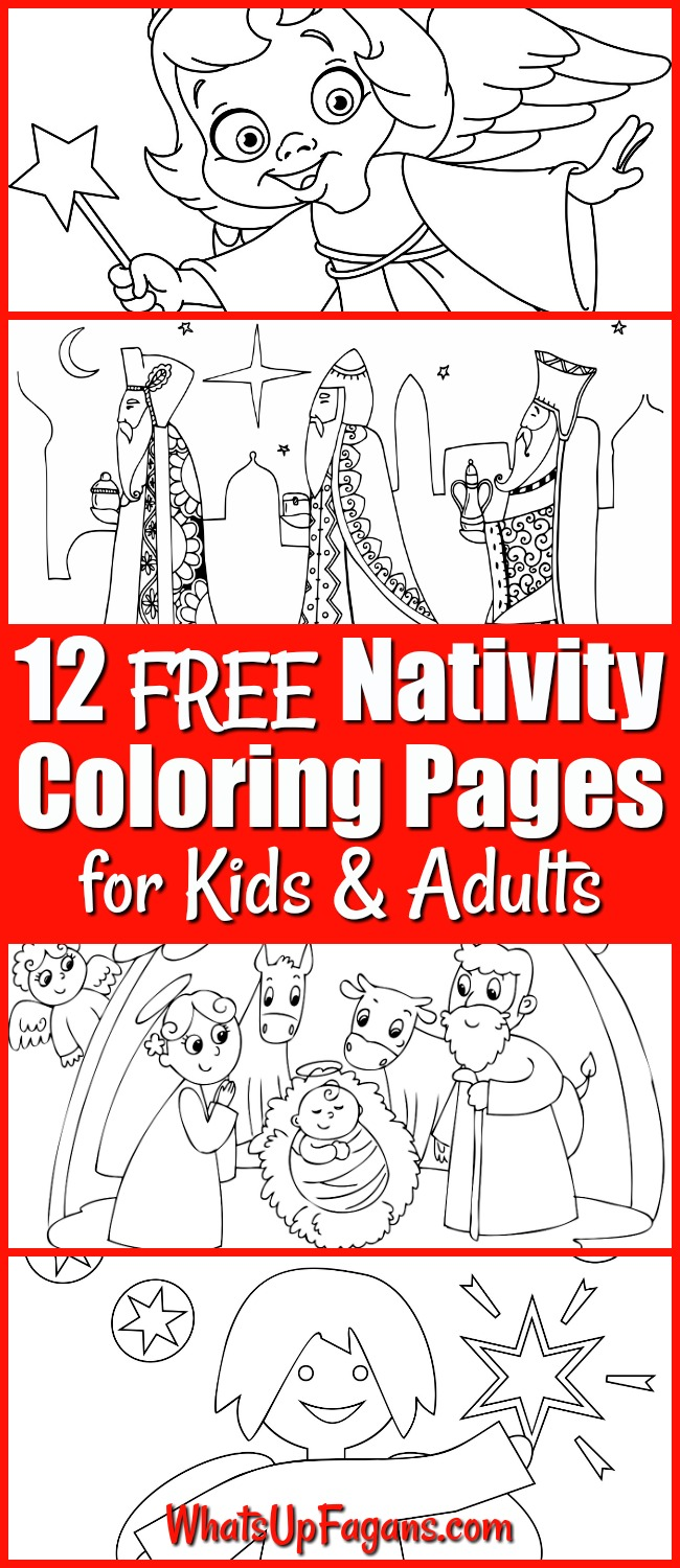 Christmas Nativity Coloring Pages Free Coloring Pages Download ...