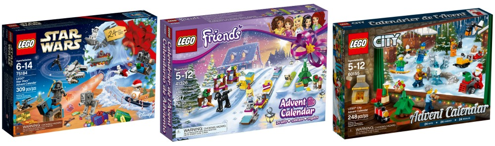 2018 LEGO Advent Calendars - LEGO Star Wars Advent Calendar, LEGO Friends Advent Calendar and LEGO City Advent Calendar for Christmas and holiday gifts for kids