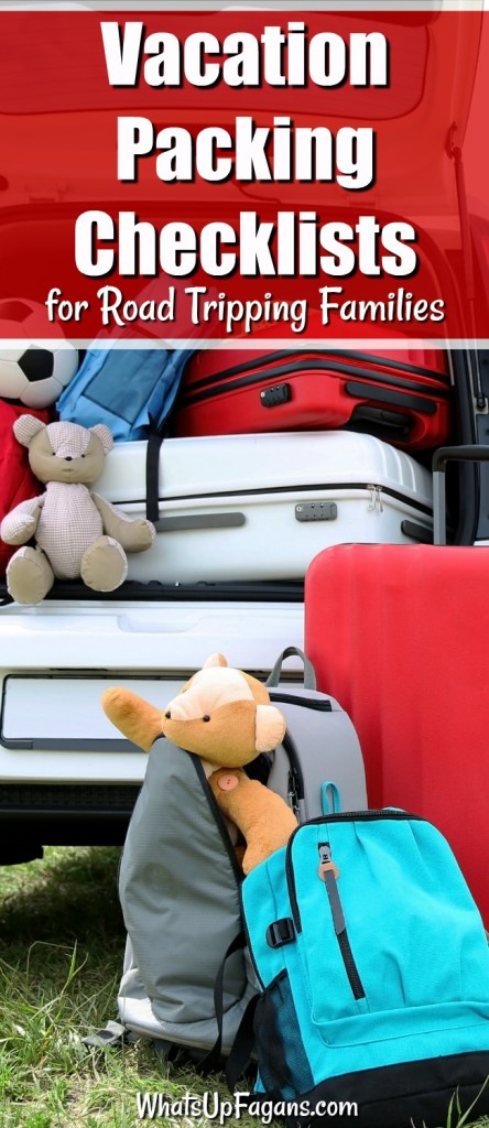 Vacation Packing Checklists For Road Tripping Families