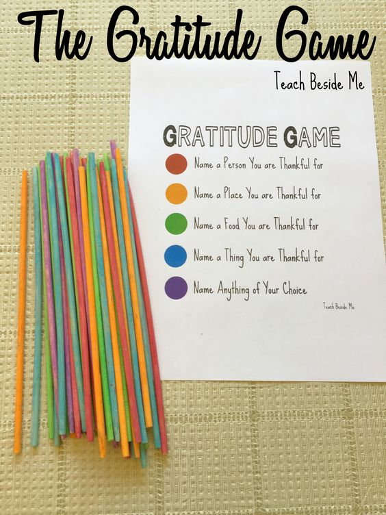 gratitude game with pick up stixs colors and color coded gratitude prompts