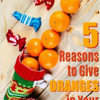 Christmas oranges - Oranges in stockings