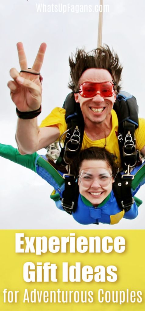 Amazing and fun adventure gift ideas for couples! Perfect exciting and romantic experience gifts for him and her!