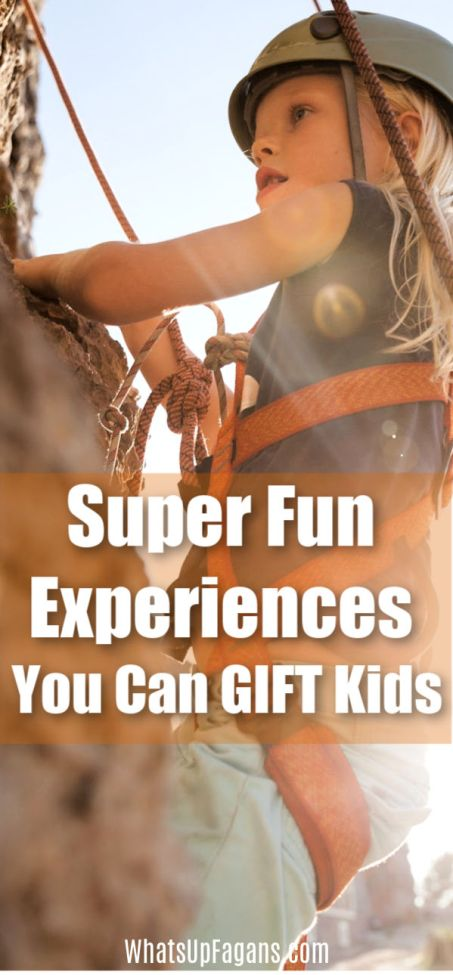 gift ideas for the adventurer kid - super fun experience gifts for kids