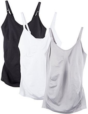 55b13a1269c You can get these 3 nursing tanks for $39.99. They come in the usual white,  gray, or black, or you can also get burgundy, navy, and teal if you want  some ...