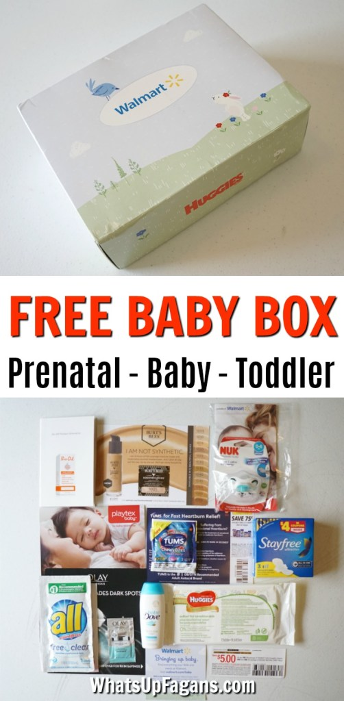 walmart free baby box