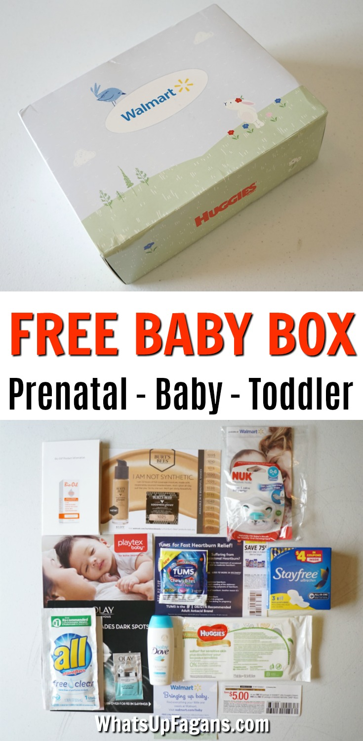 Want to know what's in a Walmart Baby Box? Well, you're in luck! I ordered all three free Walmart Baby Box options so I could do this Walmart Baby Box review! Walmart Prenatal Box, Walmart Newborn Box, and the Walmart Toddler Box. Free Samples. Free baby stuff. Free baby gear.