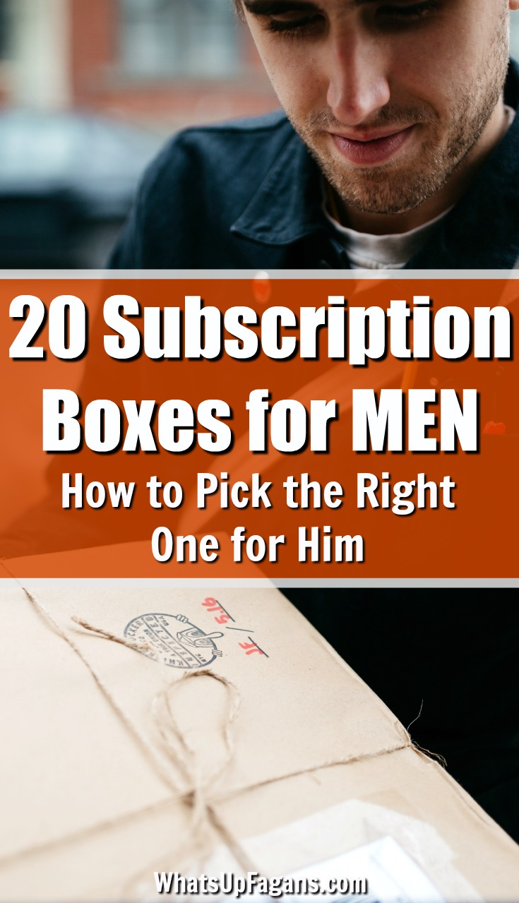 Men can be hard to shop for which is why these subscription boxes for men are a great idea! Give him one of the best monthly subscription boxes for men so he can keep receiving some of his favorite things month after month! Click through to find the perfect one for the guy in your life. #men #forhim #gifts #christmasgifts #fathersday #husband #giftsforhim #subscription #subscriptionbox #subscriptionboxes #monthlysubscription #giftideas